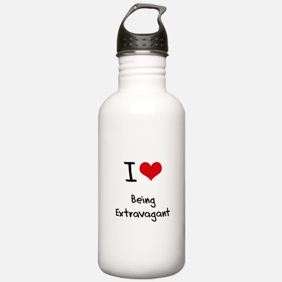 I love Being Extravagant Water Bottle