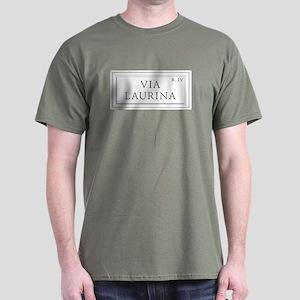 Via Laurina, Rome - Italy Dark T-Shirt