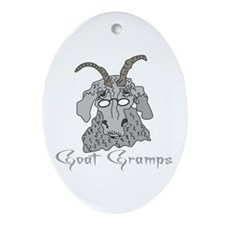 Goat Gramps Oval Ornament