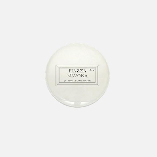 Piazza Navona, Rome - Italy Mini Button