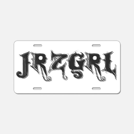 Cute Jersey girl Aluminum License Plate