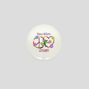 Peace Love Lizards Mini Button