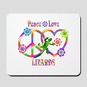 Peace Love Lizards Mousepad