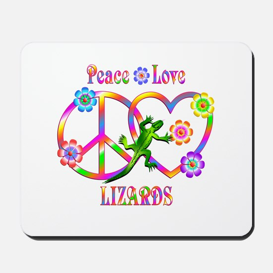Peace Love Lizards Mousepad