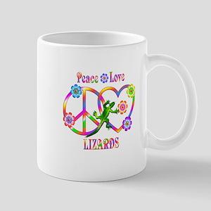 Peace Love Lizards 11 oz Ceramic Mug