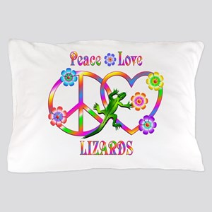 Peace Love Lizards Pillow Case