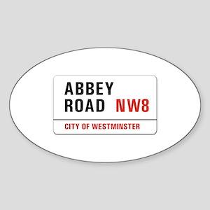 Abbey Road, London - UK Oval Sticker