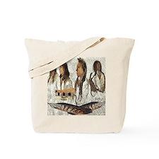 Indian Portraits Tote Bag