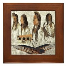 Indian Portraits Framed Tile