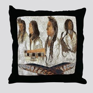 Indian Portraits Throw Pillow