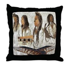 Indian Portraits Throw Pillow