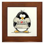 Sudoku Penguin Framed Tile