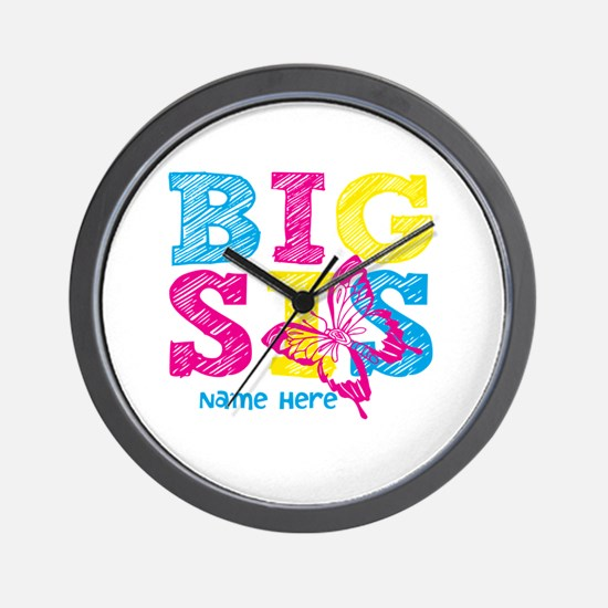 Butterfly Big Sis Wall Clock