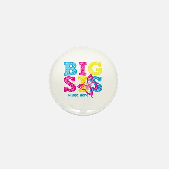Butterfly Big Sis Mini Button