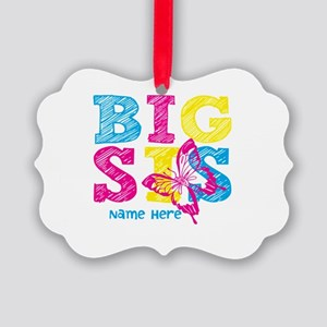 Butterfly Big Sis Picture Ornament