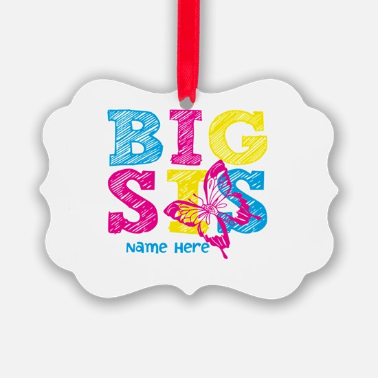 Butterfly Big Sis Ornament