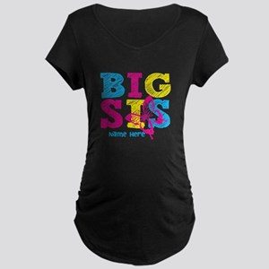 Butterfly Big Sis Maternity T-Shirt