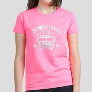 My Heart Belongs to a Hero Women's Dark T-Shirt