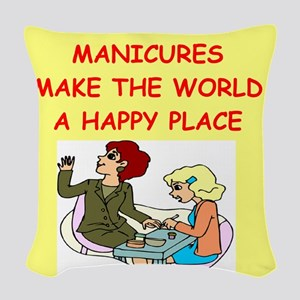 MANICURIST Woven Throw Pillow