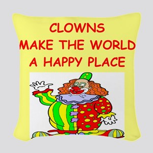 CLOWNS Woven Throw Pillow