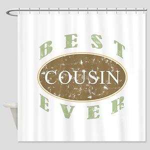 Best Cousin Ever (Vintage) Shower Curtain