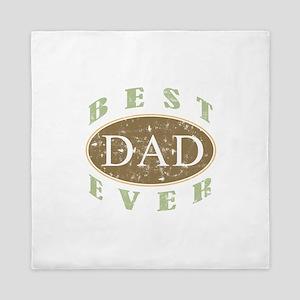 Best Dad Ever (Vintage) Queen Duvet