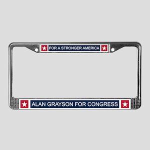 Elect Alan Grayson License Plate Frame