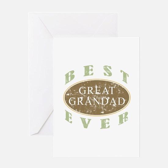 Best Great Grandad (Vintage) Greeting Card