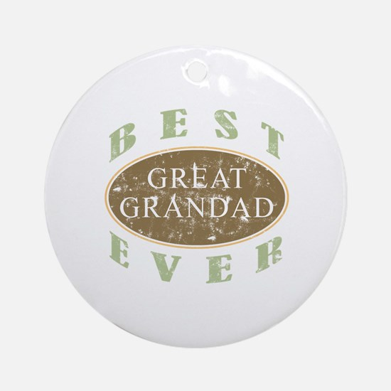 Best Great Grandad (Vintage) Ornament (Round)
