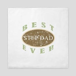 Best Step Dad (Vintage) Queen Duvet