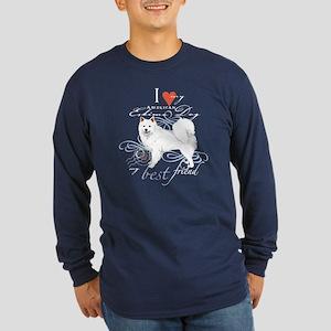 American Eskimo Long Sleeve Dark T-Shirt