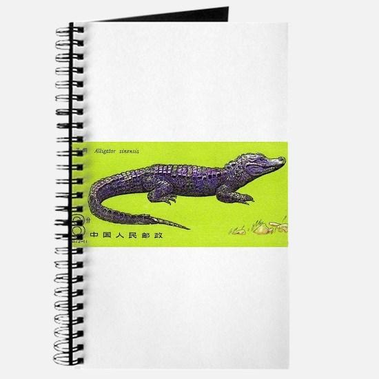 Vintage 1983 China Alligator Postage Stamp Journal