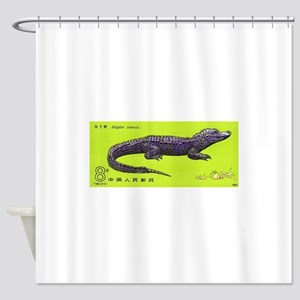 Vintage 1983 China Alligator Postage Stamp Shower