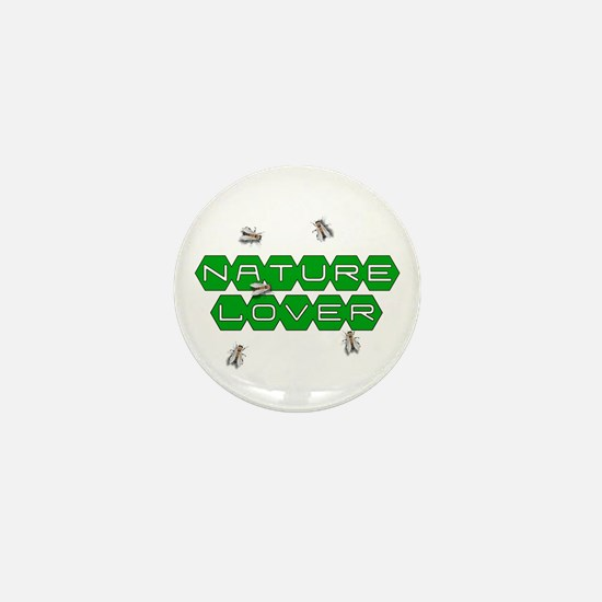 Nature Lover-Bees Mini Button