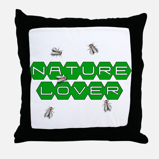 Nature Lover-Bees Throw Pillow