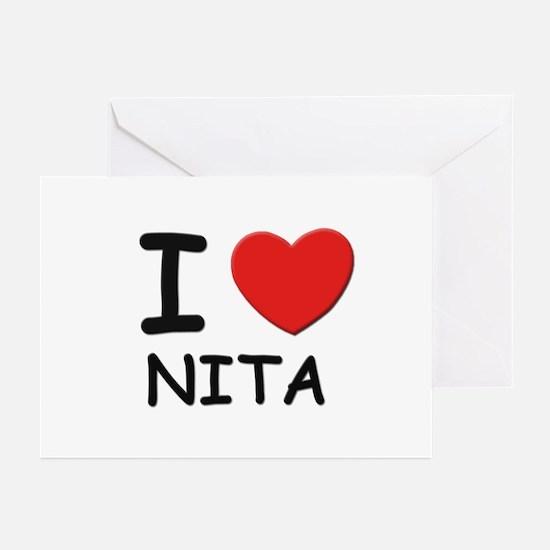 I love Nita Greeting Cards (Pk of 10)