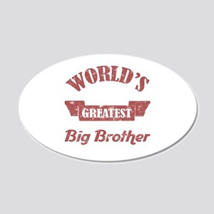 World's Greatest Big Brother 20x12 Oval Wall Decal