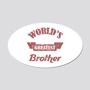 World's Greatest Brother 20x12 Oval Wall Decal