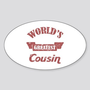 World's Greatest Cousin Sticker (Oval)