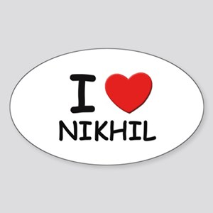 I love Nikhil Oval Sticker