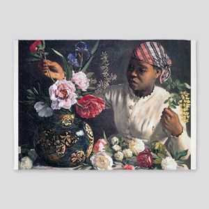 African Women with Peonie 5'x7'Area Rug