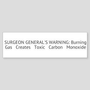 Surgeon Generals Warning CO, Sticker (Bumper)