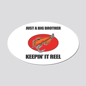 Big Brother Fishing Humor 20x12 Oval Wall Decal