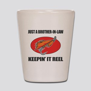 Brother-In-Law Fishing Humor Shot Glass