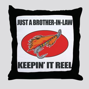 Brother-In-Law Fishing Humor Throw Pillow