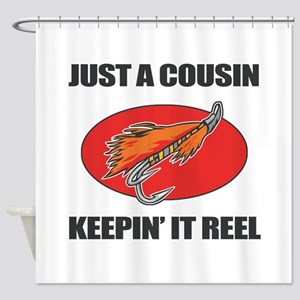 Cousin Fishing Humor Shower Curtain