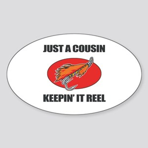 Cousin Fishing Humor Sticker (Oval)