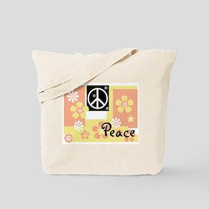 Pastel Colors Peace Tote Bag