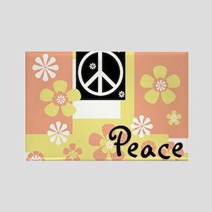 Pastel Colors Peace Rectangle Magnet