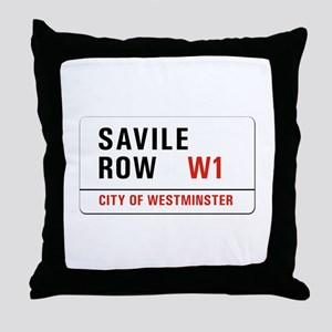 Savile Row, London - UK Throw Pillow